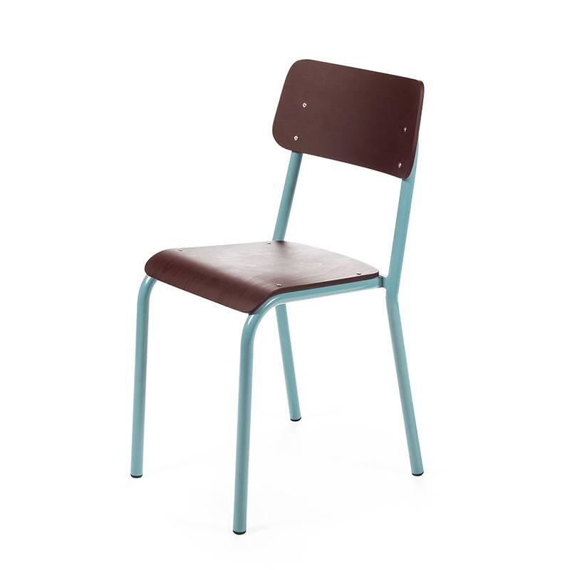 Declercq Mobilier ML stoel gekleurde zit