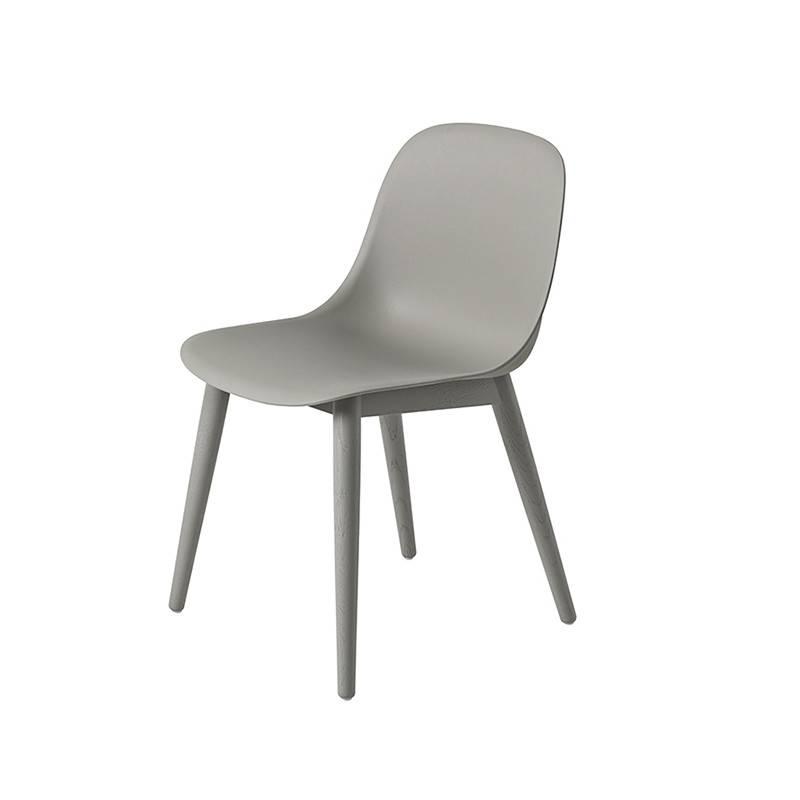 Muuto Fiber Side Chair pieds en bois