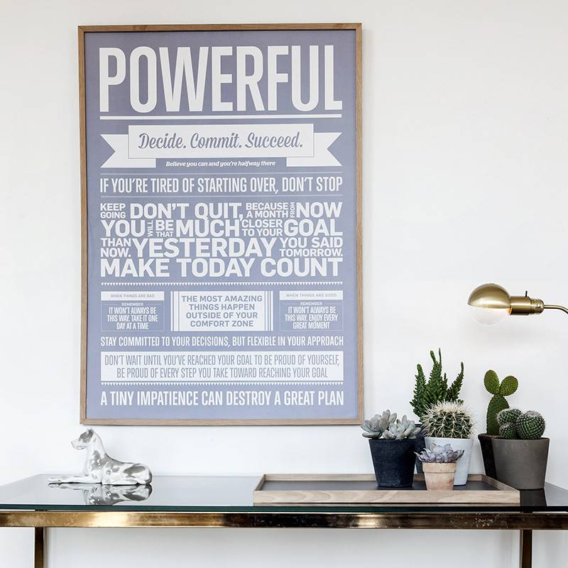 I Love My Type Affiche 'Powerful'