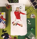 SNURK beddengoed Voetballer (rood) dekbedovertrek