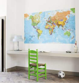 IXXI Wanddecoratie Wereldkaart