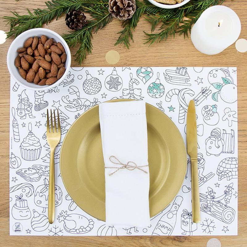 OMY Kleurplacemats Kerstmis