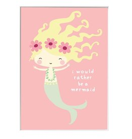 A Little Lovely Company Poster Mermaid