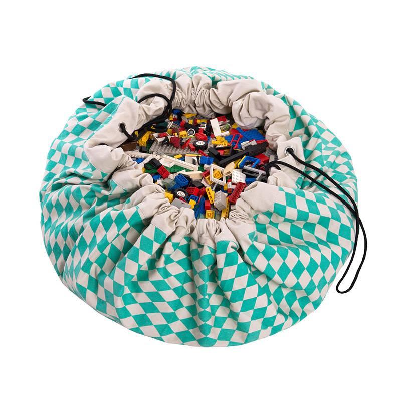 Play&Go Green Diamonds Sac de jouets/tapis de jeu