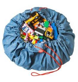 Play&Go Denim Sac de jouets- tapis de jeu