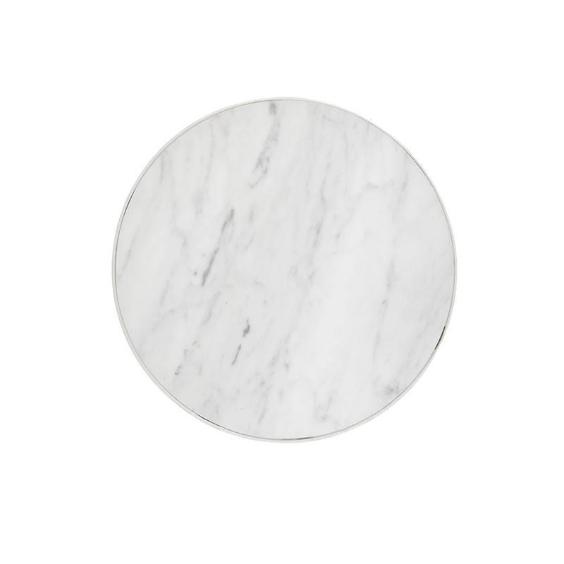 Fermliving Marmeren bijzettafel wit