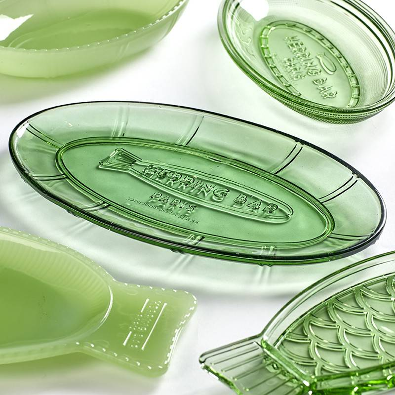 Serax Ovaal schaal Fish&Fish transparant groen