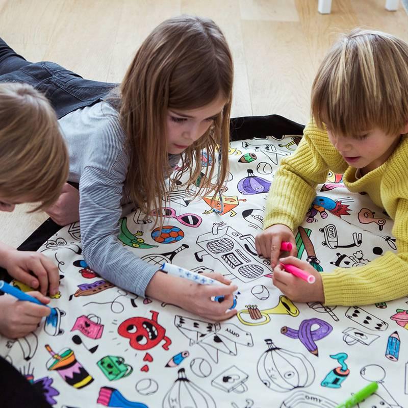 Play&Go Colormap Sac de jouets- tapis de jeu
