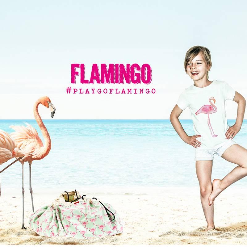 Play&Go Flamingo Opbergzak- speeltapijt