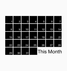 WEEW Design Monthly planner - Mind Wall #M