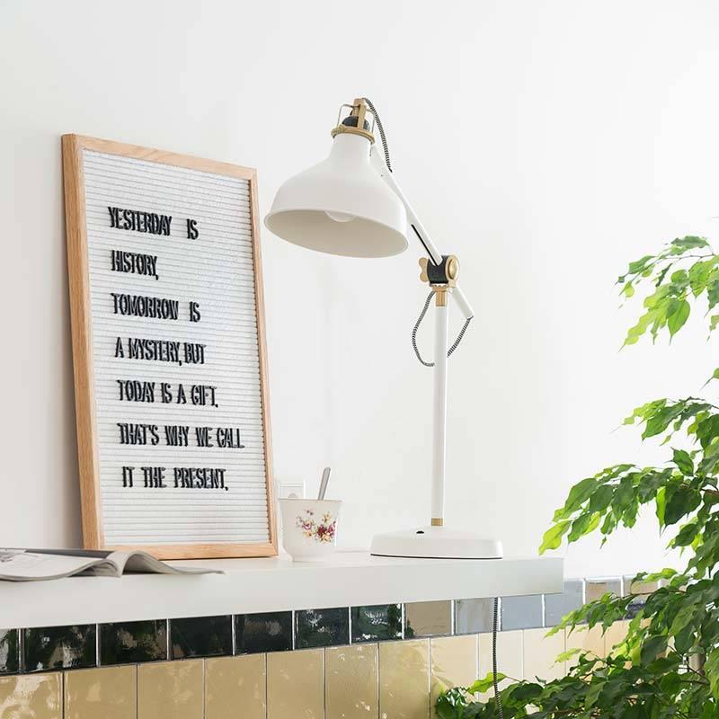 Funkk Wit Vilt Letterbord L eik (incl letters)