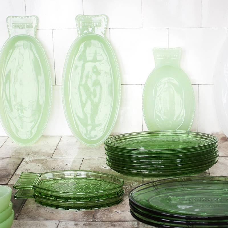 Serax Visschotel L Fish&Fish transparant groen