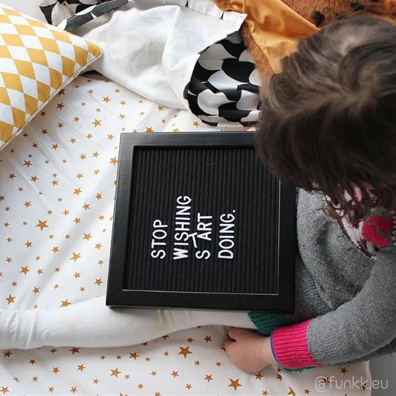 Funkk Zwart Vilt Letterbord S zwart (incl letters)