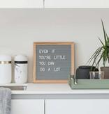 Funkk Grijs Vilt Letterbord S eik (incl letters)
