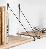 We Do Wood Legplank Loop Shelf