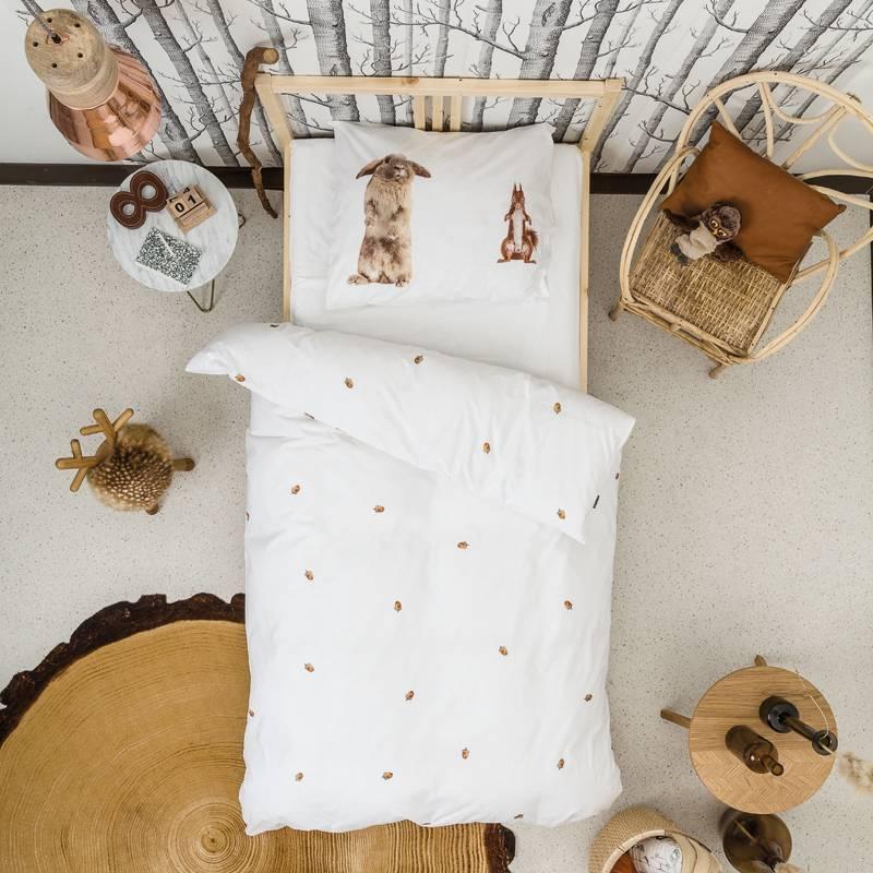 SNURK beddengoed FLANEL  Furry Friends dekbedovertrek