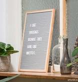 Funkk Grijs Vilt Letterbord L eik (incl letters)