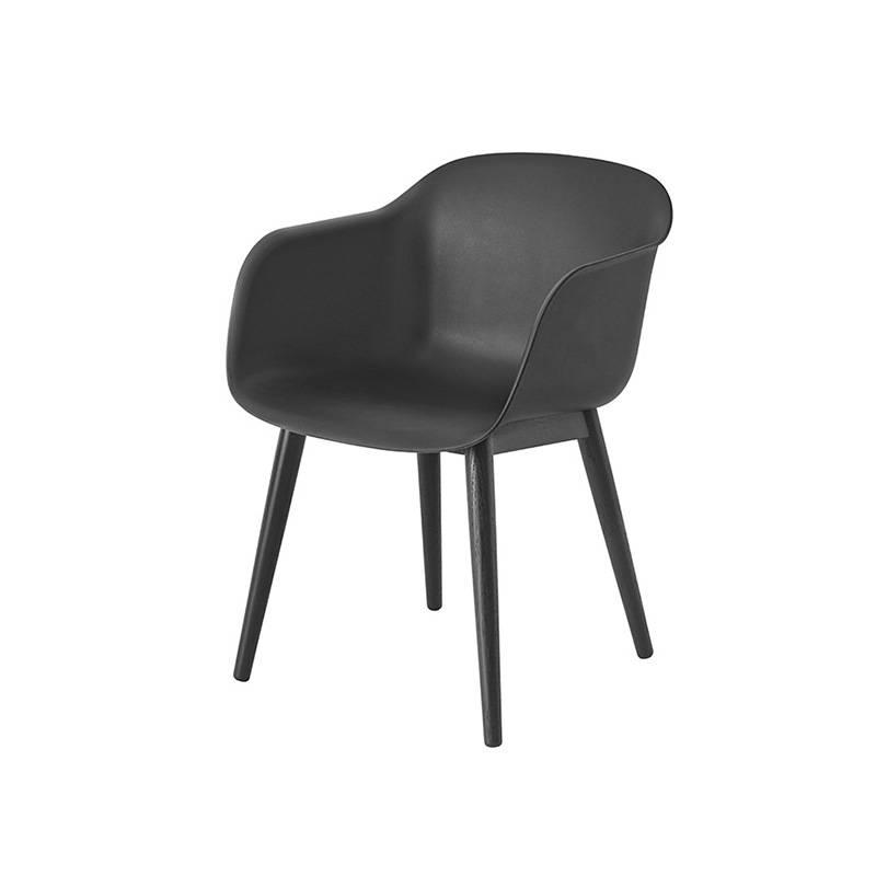 Muuto Fiber Chair houten onderstel
