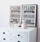 I Love My Type Affiche 'It's a boy'