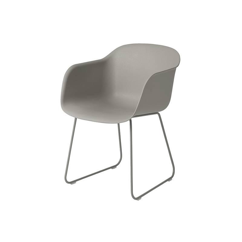 Muuto Fiber Chair pieds traineaux