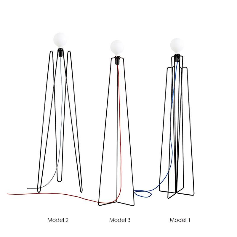 Grupaproducts Vloerlamp Model1 zwart