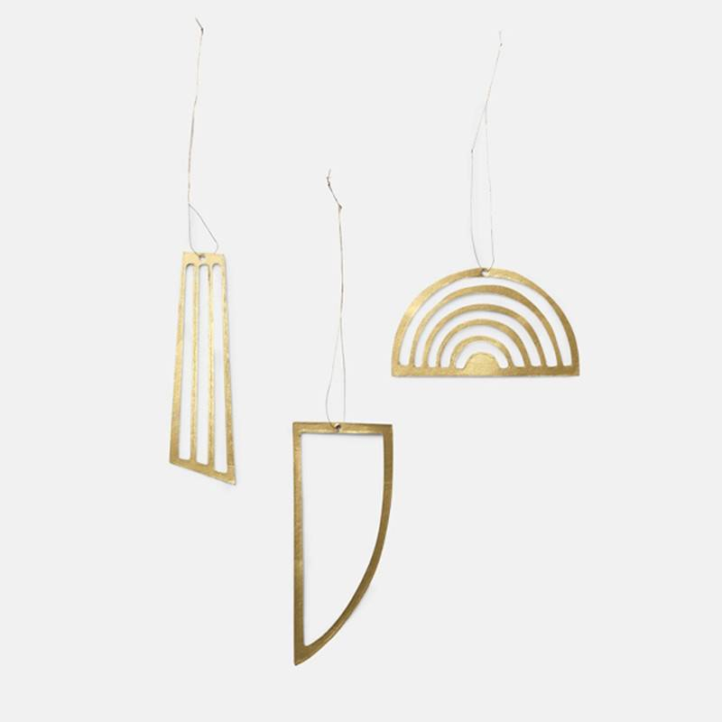 Fermliving Pendules messing (set de 3pc)