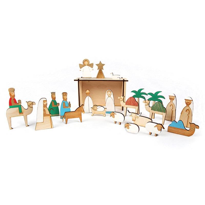 Meri Meri Adventskalender hout kerststal