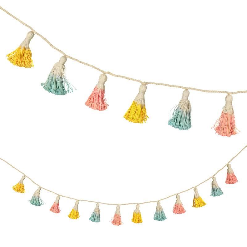 Meri Meri Guirlande avec franges pastel
