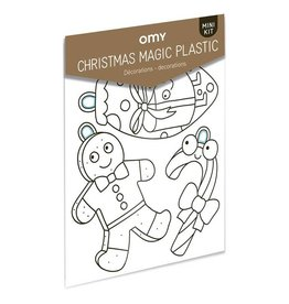 OMY Magic plastic - Kerstshrinkles
