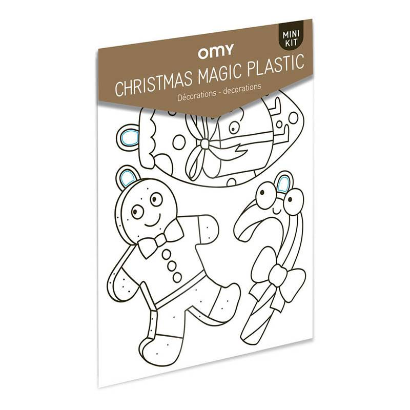OMY Magic plastic - Christmass shrinkles