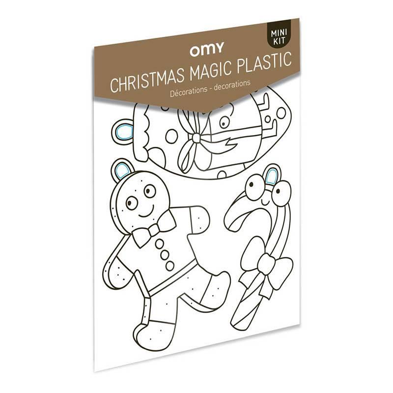 OMY Magic plastic - Kerstshrinkles