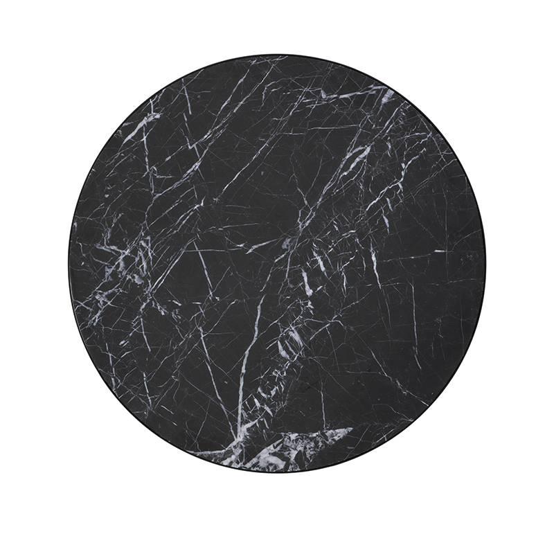 Fermliving Marmeren bijzettafel zwart