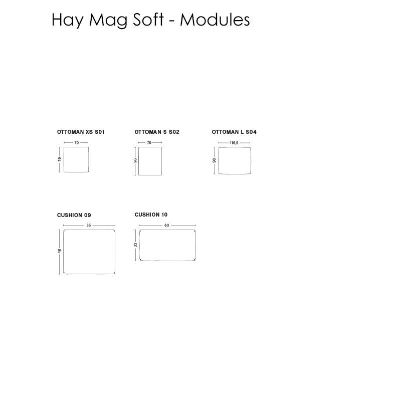 HAY Mag Soft canapé 2,5 places