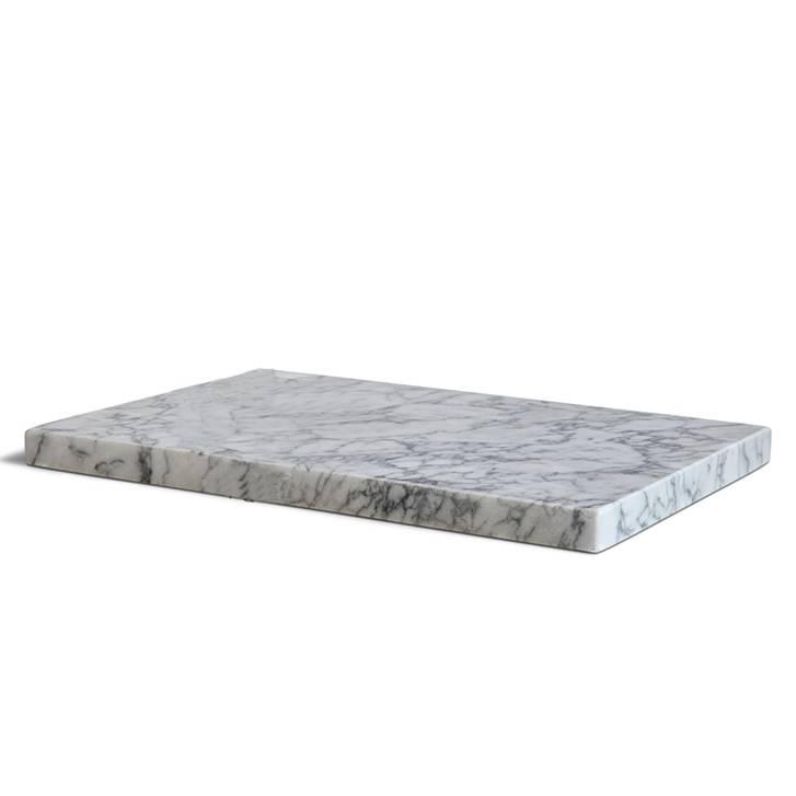 Other brands Planche à couper en marbre blanc L