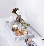 Other brands Plateau en marbre blanc