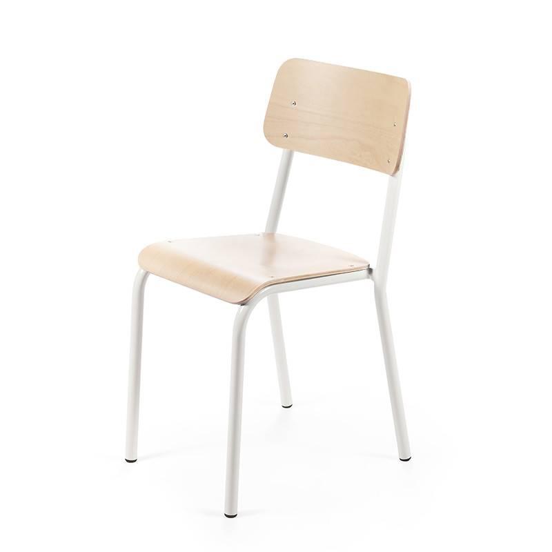 Declercq Mobilier ML stoel beuk beukenhout blanc