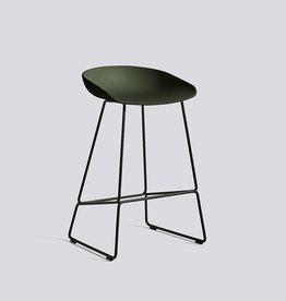 HAY Tabouret de bar 'About A Stool' AAS38 noir-vert H75