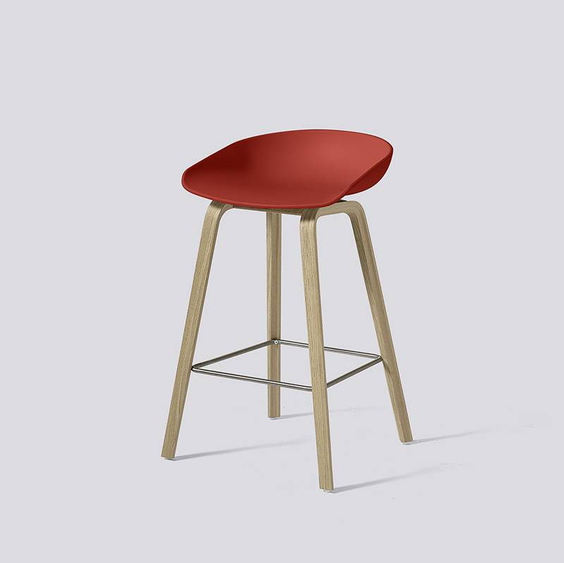 tabouret de bar 39 about a stool 39 aas32 gris ch ne hay. Black Bedroom Furniture Sets. Home Design Ideas