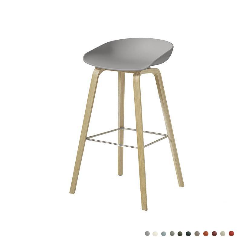 tabouret de bar 39 about a stool 39 aas32 gris ch ne hay livingdesign. Black Bedroom Furniture Sets. Home Design Ideas
