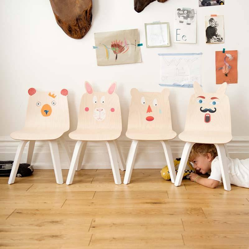 Oeuf Chaises d'enfant animaux