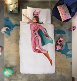 SNURK beddengoed Housse de couette Superhero rose