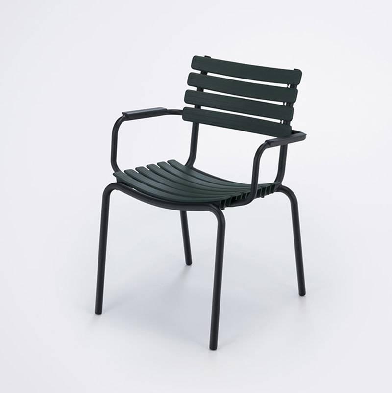 Houe Clips Dining Chair avec alu accoudoir