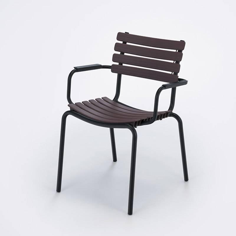 Houe Clips Dining Chair met alu armleuning