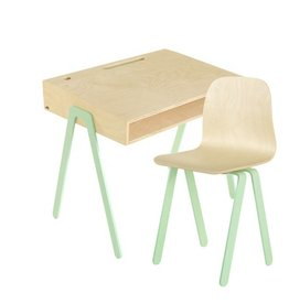 In2Wood Set kinderbureau & stoel +6 jaar