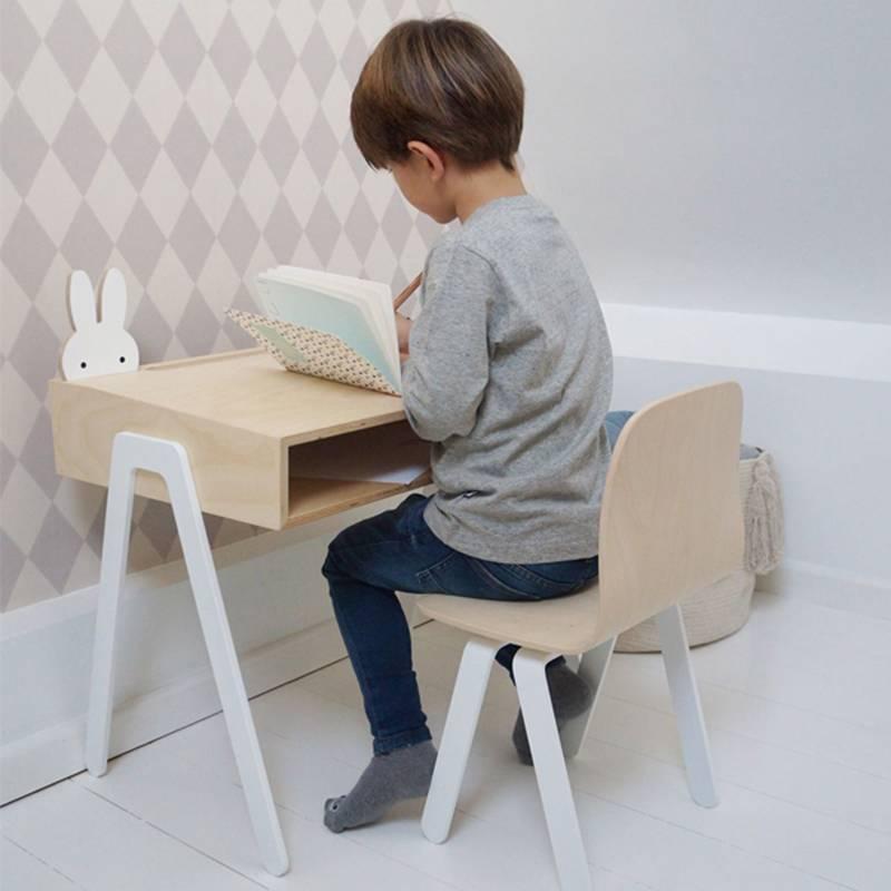 In2Wood Set kinderbureau & stoel +6 jaar