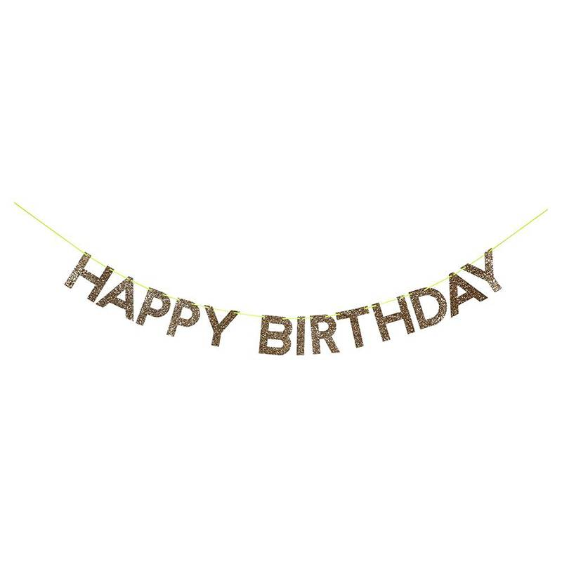 Meri Meri Slinger Gold Happy Birthday