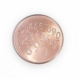 Mi Moneda Mi-moneda munt large Phaistos-getallen rosé gold