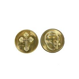 Mi Moneda Mi-moneda munt small Cross & Rosary
