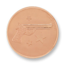 Mi Moneda Mi-Moneda munt Aim high & Pistol small