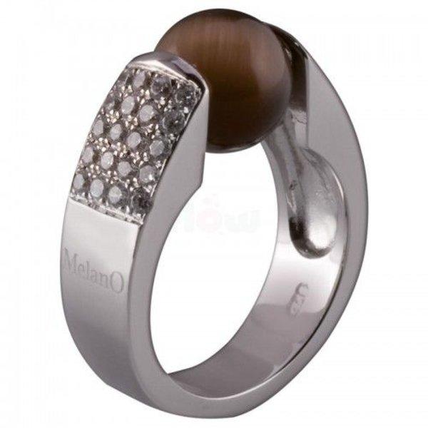 Melano Melano Cateye Ring Zirkonia 10mm 01R 3602 CZ